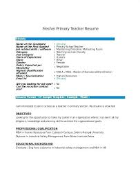 Objective For School Teacher Resume nursery teacher resume micxikineme 80