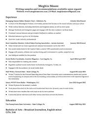 Resume Meghin Moore