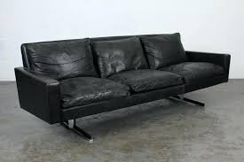 mid century modern leather sofas mid century modern black leather sofa with chrome legs 2 vintage