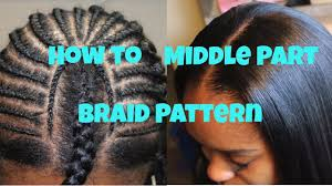Braid Pattern For Sew In With Leave Out Fascinating How To Braid Pattern For A Middle Part Sew In YouTube