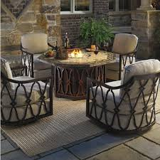 patio fire pit table sets outdoor conversation sets with fire pit table