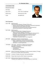 English Curriculum Vitae Curriculum Vitae English Alexander Albus