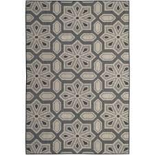 L Shop Tori Home Charcoal IndoorOutdoor Area Rug  8u0027 X 10u0027 Free Shipping  Today Overstockcom 23586565