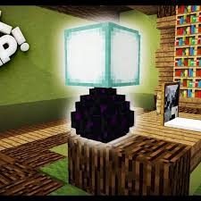 Minecraft How To Make Light Minecraft How To Make A Desk Lamp Minecraft Tutorial Table