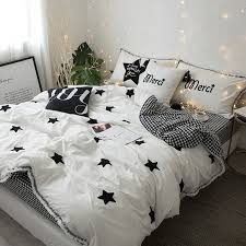 simply chic black and white star and