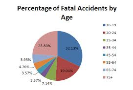 By Accidents Age Chart - Pie Insurance List Car