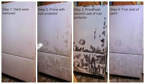 How To how to paint a door with a roller images : How to Paint a Refrigerator (Easier than you think!)