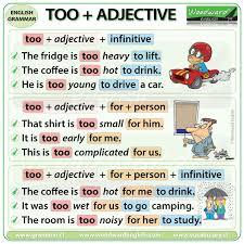 Too Adjective Infinitive Woodward English