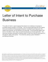 Letter To Intent Sample Letter Of Intent To Purchase A Business Cute Beautiful