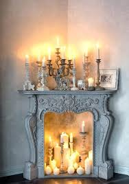 fireplace candle insert surprising set fresh at patio design by vintage decorations ideas
