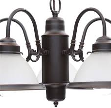 5 light oil rubbed bronze frosted glass shaded chandelier hanging light fixture