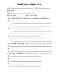 best book report projects ideas book reports  book report outline form