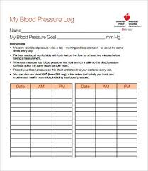 bp log blood pressure daily log oyle kalakaari co