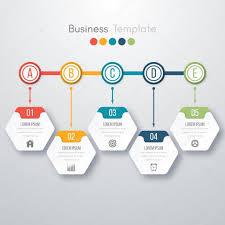 Process Template Modern Infographics Process Template Stock Vector Amelisk 125504534