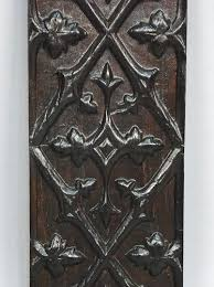 french neo gothic hand carved oak
