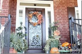 southern front doorsFall Front Door Decorations Fall front door by DecorChickcom