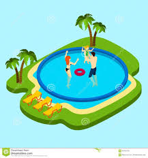 Swimming Pool Illustration stock vector Illustration of lounge