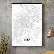 La ville renferme un ravissant cœur historique médiéval. Autriche Graz Salzbourg Vienne Ville Cartes Toile Art Impression Mur Photos Pour Salon Pas De Cadre Aliexpress