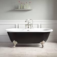66 Sanford Cast Iron Clawfoot Tub Imperial Feet Black Bathroom
