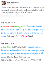 how to cite twitter tweets in your academic paper apa and mla style cite twitter