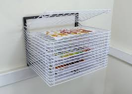 spring loaded wall drying rack