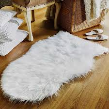 small ivory faux sheepskin rug land of rugs for designs 10