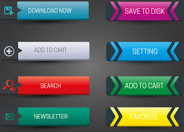 Horizontal Website Buttons Design With Classical Style Free