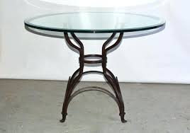 glass top outdoor table indoor or outdoor iron metal base and glass top pedestal dining or glass top outdoor table