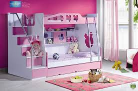 bunk beds for girls with storage.  With Pink White Toddler Bunk Beds With Stairs For Girl Complkete Storage  Dolls And Rug On Girls S