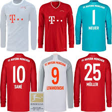 Get kitted out in the unique look of the fc bayern munich club. 2021 20 21 Bayern Munich Home Away Long Sleeve Soccer Jersey Sane Hernandez Gnabry Lewandowski 2020 2021 Gray Red Tolisso Neuer Football Shirts From Feng726 13 47 Dhgate Com
