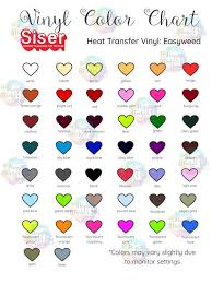 Siser Easyweed Htv Color Chart Htv Siser Easyweed Color Chart Editable On Corjl Digital Download Vinyl Color Chart Vinyl Lettering Color Chart