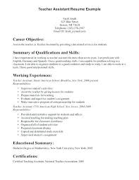 teaching assistant resume sample resume teacher assistant examples of resume for teachers resume