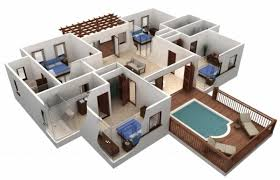 4 bedroom house designs. 4 Bedroom House Design Awesome Simple Plans 3d Plan Ideas Designs