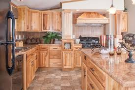 furnitures affordable hickory kitchen cabinet with idea with tile floor and granite countertop