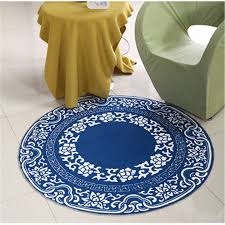 rugs for kids rooms circle round mat blue chinese style