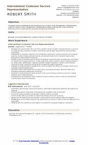 Customer Service Representative Resume Sample Awesome International Customer Service Representative Resume Samples