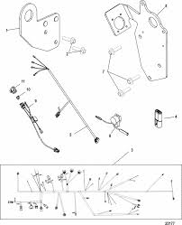mercruiser l inboard h o wiring harness lifting brackets parts engine section