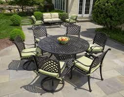 nassau cast aluminum 7pc patio dining