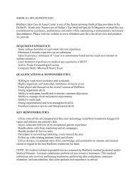 Gallery Of Esthetician Resume Example