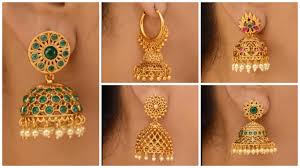 Latest Gold Jhumka Earrings Design With Price In India Latest Gold Jhumka Earring Designs Artsycraftsydad