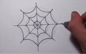web drawing how to draw a simple spider web youtube