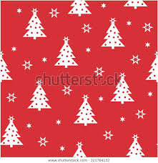 Simple Christmas Seamless Pattern Use Cards Stock Vector