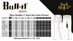 Bull It Jeans Size Chart Bull It Sr6 Mens Atlantic 17 Straight Fit Jeans Close Out