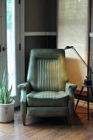 modern leather rocking chair mid century modern recliner chair in the style low profile green vinyl modern leather rocking chair