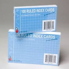 Index Cards 100ct 2asst Sizes 4x6 And 3x5 G02389 Buy Memo Pad