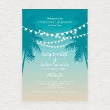 Beach Invitation Tropical Printable Wedding Invitation Digital File Beach