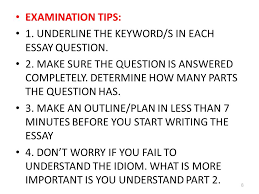 guidelines for enhancement in essay writing part ppt video 8 examination