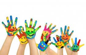 Risultati immagini per mani colorate bimbi