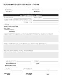 15 Incident Report Form Template Resume Statement