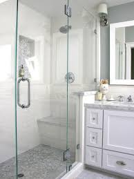 bathroom shower tile white. like white tile with marble accents. floor and counter. idea how to arrange master bath sink/shower: dream bathrooms from hgtv designers\u0027 portfolio bathroom shower _